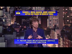 Mick Jagger On David Letterman – This Is Hilarious!