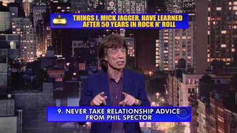 Mick Jagger On David Letterman – This Is Hilarious! | Society Of Rock Videos