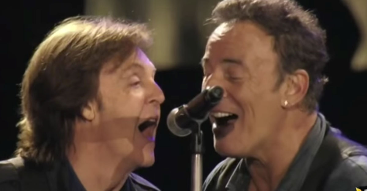 paul mccartney bruce springsteen i saw her standing there society of rock. Black Bedroom Furniture Sets. Home Design Ideas