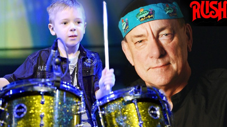 """Unbelievable! This 8-Year-Old Boy Just Delivered An Insane Drum Cover Of Rush's """"Tom Sawyer"""" 