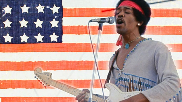 Image result for jimi hendrix star spangled banner woodstock