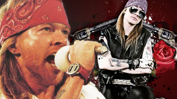 axl rose has never been better in this performance of knockin on