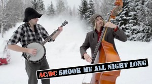 """AMAZING """"You Shook Me All Night Long"""" Bluegrass Style"""