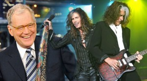 Steven Tyler and Joe Perry join David Letterman- man are they a wild duo!