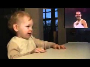 Dad Puts on Queen- The Way Baby Reacts To Freddie Mercury Is Priceless