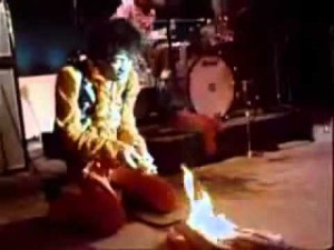 Jimi Hendrix Sets Guitar On Fire And Then Does This…
