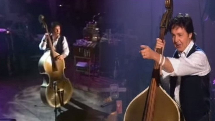 Paul Mccartney Plays Elvis Presley S Original Upright Bass