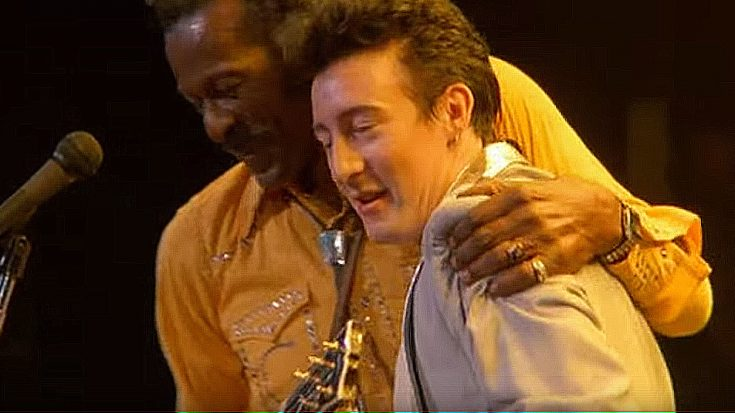 Remember When Chuck Berry And Julian Lennon Rocked Out Together To Johnny B Goode