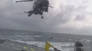 Crazy Helicopter Landing On Ship During Raging Sea