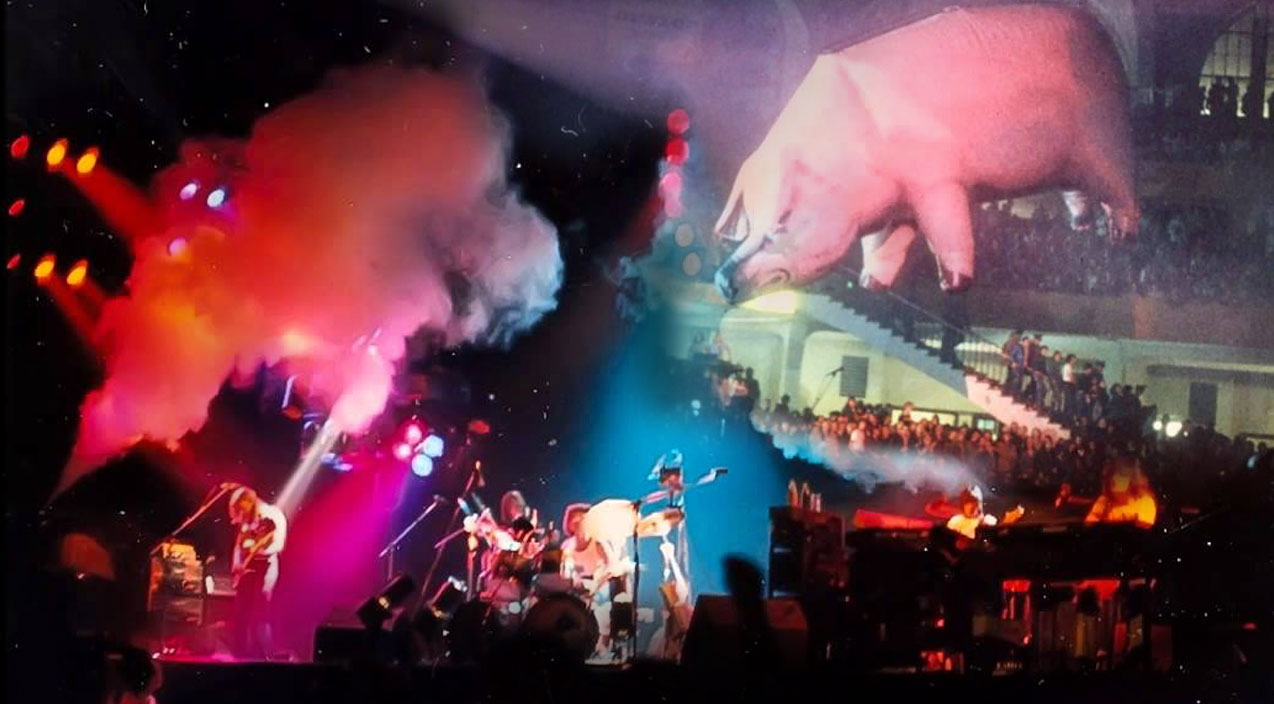 pink floyd �pigs� live 1977 tour rare footage society of