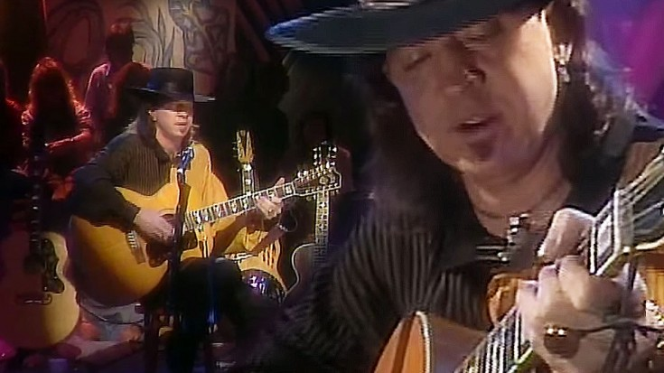"Hear The Sweet, Sweet Sound Of Stevie Ray Vaughan Going Unplugged For ""Pride And Joy"" 