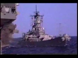 USS Missouri Firing Her Big Guns — MASSIVE Firepower!