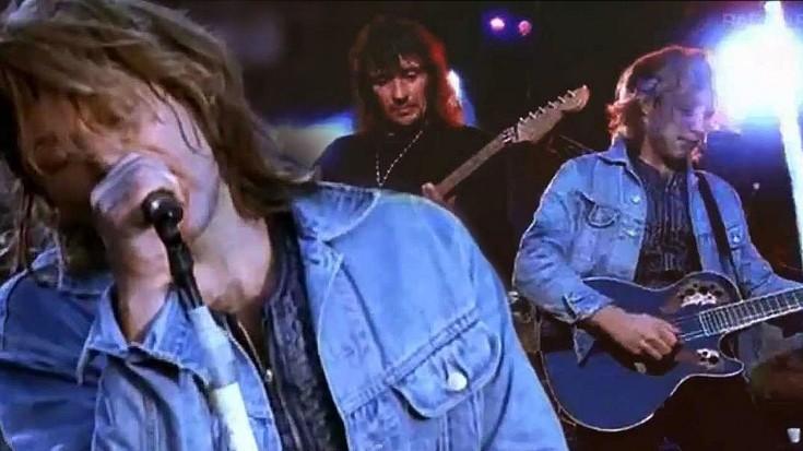 "Bon Jovi Breaks 90,000 Hearts With ""Always"" Live At Wembley, 1995 | Society Of Rock Videos"