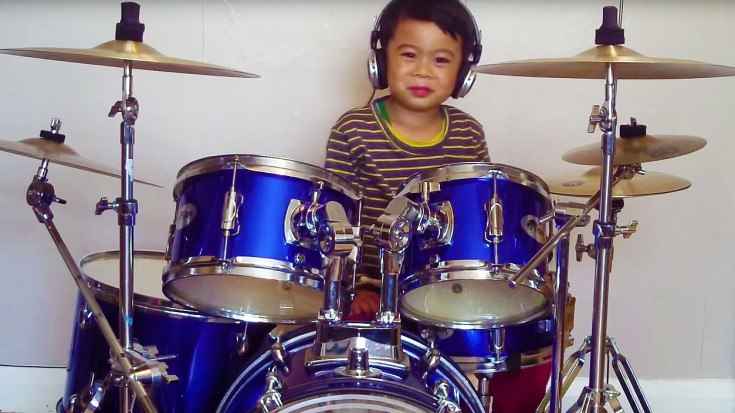 "Adorable! This 4-Year-Old Drummer's Cover Of Bon Jovi's ""Livin' On A Prayer"" Will Make You Believe! 