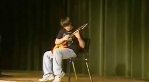 "This 8th Grader Absolutely Annihilates Van Halen's ""Eruption"" Solo At Talent Show"