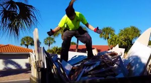 Video Evidence: This Construction Worker Might Be More Metal Than You