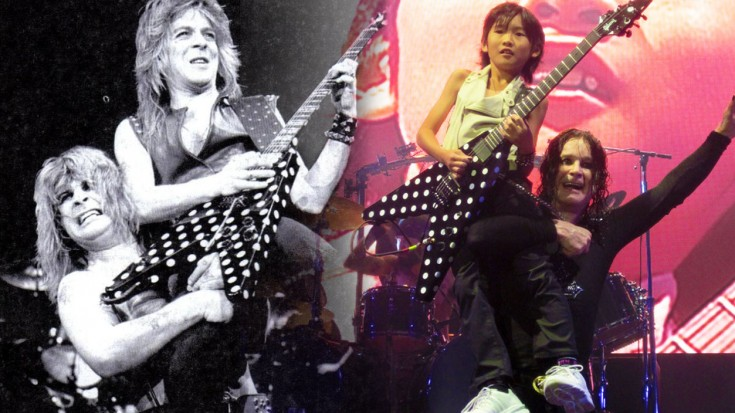 "Caught On Camera: Ozzy Duets ""Crazy Train"" With Mini Randy Rhoads 