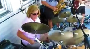 Mom Sits Down At Drum Kit, What She Does Next Brings Party To A Halt