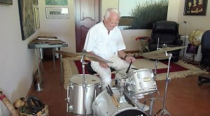Grandpa Plays Drums On His 90th Birthday, And He Rocks!