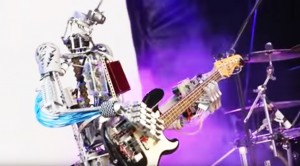 "Full Band Of Robots Perform ""Iron Man"" On Stage And It's Epic"