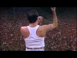 Freddie Mercury Makes Entire Stadium Copy Him And It's Glorious