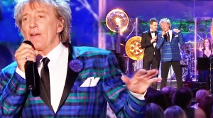 "Rod Stewart's ""Winter Wonderland"" With Michael Bublé Will Make You Feel Merry"