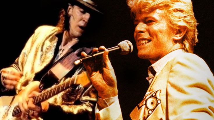 "Caught On Tape: Stevie Ray Vaughan Rehearses ""Let's Dance"" With David Bowie 