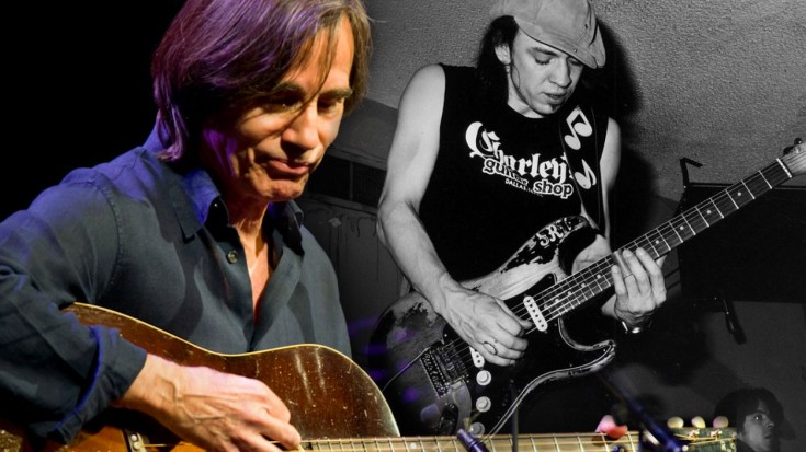 """Hear Stevie Ray Vaughan & Jackson Browne's 1989 Performance Of """"Stay"""" 