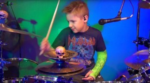 Kid Drummer Breaks Arm – But What He Does With This Def Leppard Classic Is Unbelievable