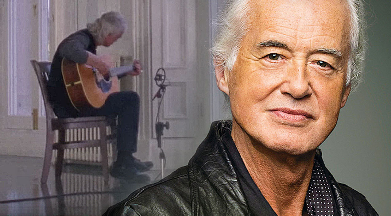 led zeppelin jimmy page goes unplugged for stunning acoustic jam session society of rock. Black Bedroom Furniture Sets. Home Design Ideas