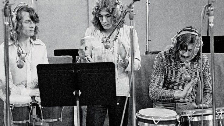 """Check Out This Rare, Behind The Scenes Audio Of Led Zeppelin Rehearsing """"Black Dog"""" 