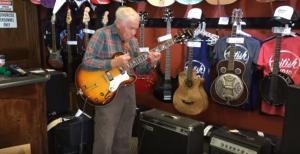 80 yr old Grandpa Picks Up Guitar- Stuns The Entire Shop