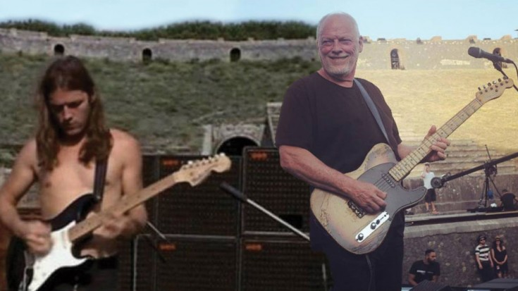 David Gilmour Returns To Pompeii After 45 Years- Plays Two