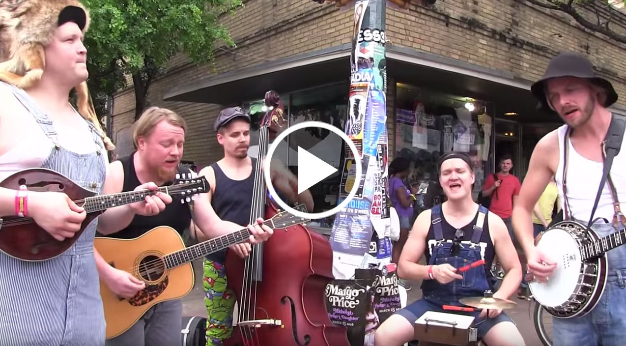 Hillbilly Rockers Hit The Streets Playing Paradise City