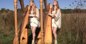 "These 2 Girls 1 Harp Play ""Carry On Wayward Son"" For Most Unique Cover"