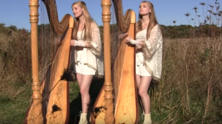 "These 2 Girls 1 Harp Play ""Carry On Wayward Son"" For Most Unique Cover 