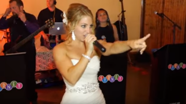 "Bride Sings Journey ""Don't Stop Believin'"" At Her Own Wedding Like A Champ 