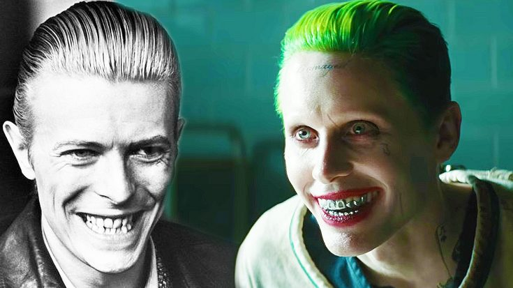 Jared Leto Reveals That David Bowie Inspired His Joker Character In 'Suicide Squad' | Society Of Rock Videos