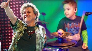 """9-Year Old Pays Tribute To Rick Allen By Covering Def Leppard's """"Animal"""" One Handed!"""