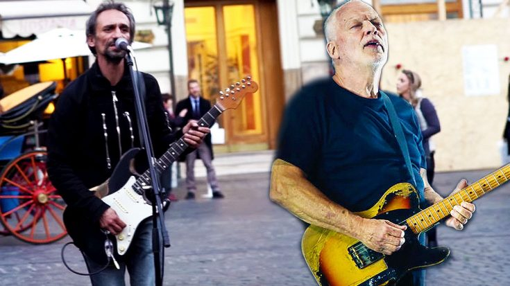 "Pedestrians Halt To Witness This Street Performer's Incredible Cover Of Pink Floyd's ""Comfortably Numb"" 