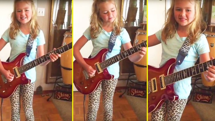 Parents Hand 10-Year Old Daughter Guitar—She Then Crushes This AC/DC Classic! | Society Of Rock Videos