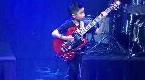 9-Year Old Shreds Incredible Medley Of Van Halen, Black Sabbath Songs—Melts Everyone's Faces Off
