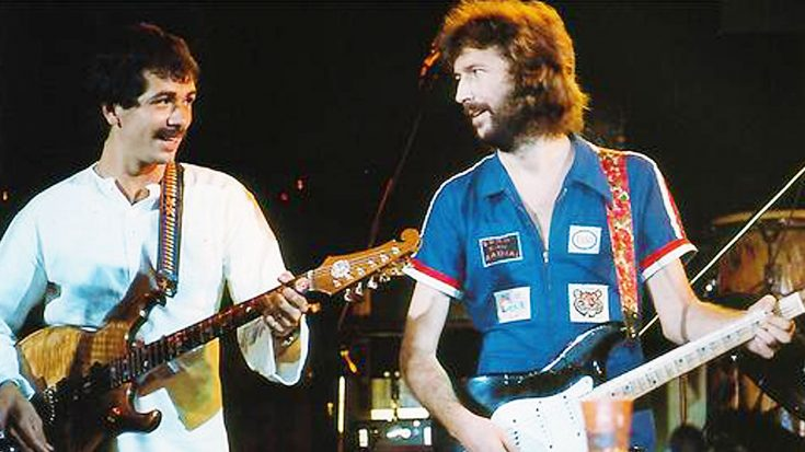 "Eric Clapton And Carlos Santana Team Up For Legendary Cover Of Jimi Hendrix's ""Little Wing"" 