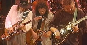 It's A Boot Stompin' Good Time When Skynyrd And Toy Caldwell Join Stevie Ray Vaughan For An All-Star Jam