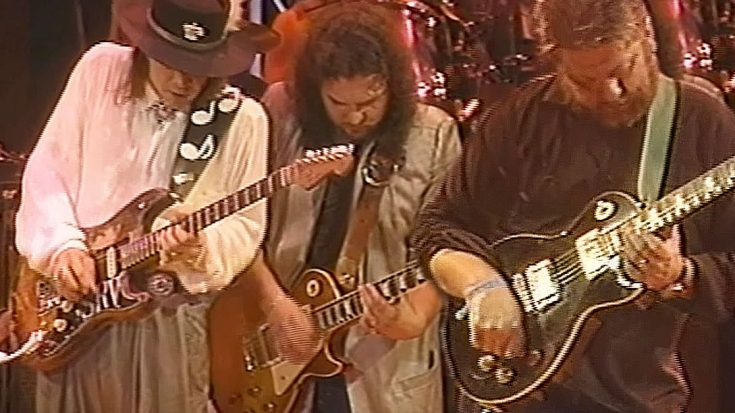 It's A Boot Stompin' Good Time When Skynyrd And Toy Caldwell Join Stevie Ray Vaughan For An All-Star Jam | Society Of Rock Videos