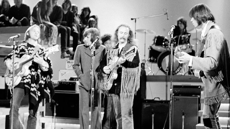 """Nothing Brings Back Those Memories Like Crosby, Stills, Nash, & Young Belting Out """"Down By The River"""" 