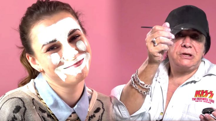 Gene Simmons Does A KISS Makeup Tutorial | Uses Own Daughter As Guinea Pig | Society