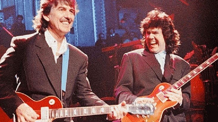 George Harrison And His Real Life Guitar Hero Gary Moore Trade Licks In Legends Last Ever