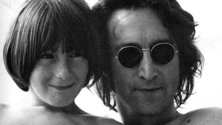 John Lennon And His Son Julian Share More Than Looks Check Out Rockin