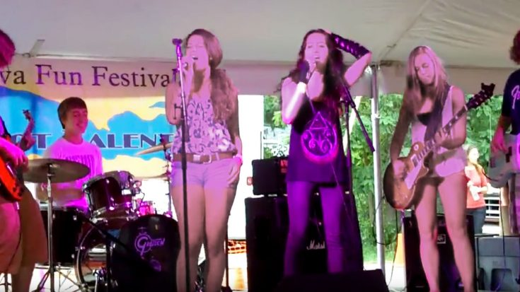 "Young Rockers Tackle The Rolling Stone's ""Gimme Shelter""—Singer's Amazing Voice Leaves Crowd In Awe! 